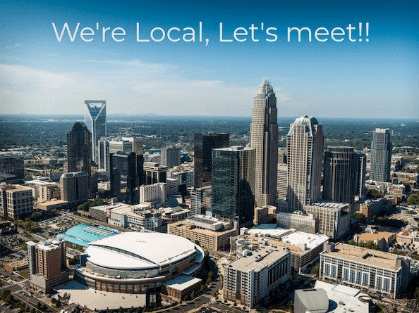 Charlotte Website Design Company showing Charlotte skyline