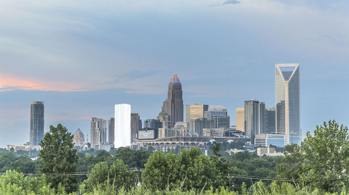 App development Charlotte NC company showing Charlotte skyline